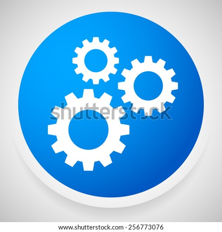Icon with Gears, Gearwheels, Cogwheels for Maintenance, Repair, Mechanism, Development or Settings Concepts - stock vector