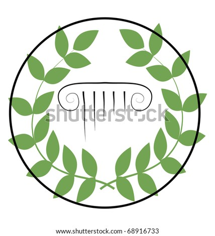 icon with greek symbols - stock vector