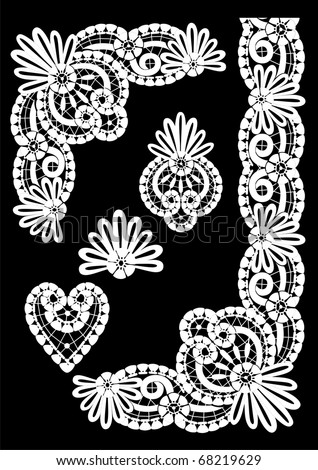 Icon with the elements of lace - stock vector