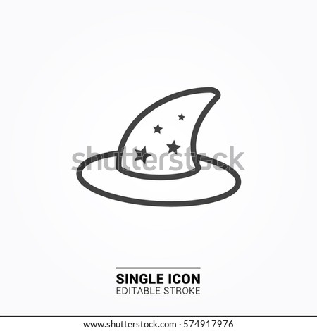 Icon Wizard Hat Single Graphic Design