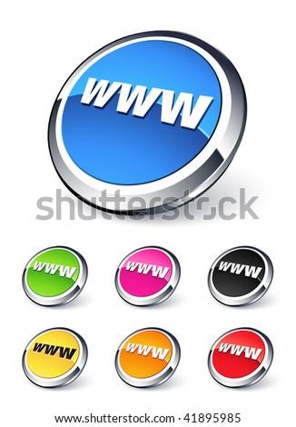 icon www - stock vector