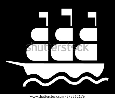 Iconic ship - stock vector