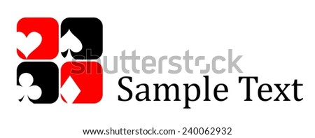 icons and logo on the topic of playing cards. - stock vector