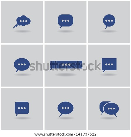 icons chat. vector set. eps10 - stock vector