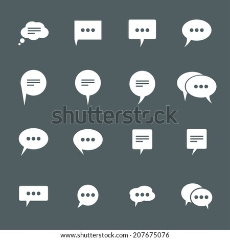 icons chat. vector set. eps8 - stock vector