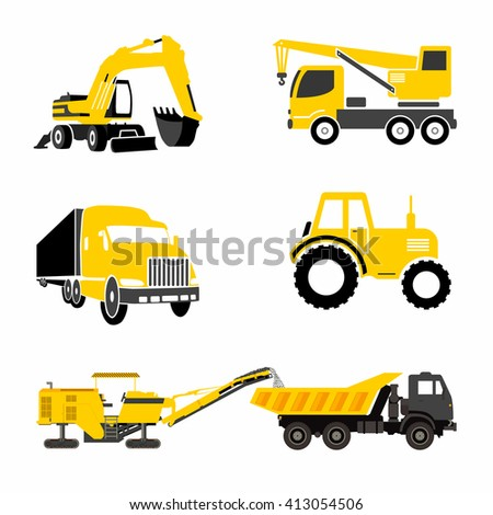 Icons construction equipment that can be used for logos - stock vector