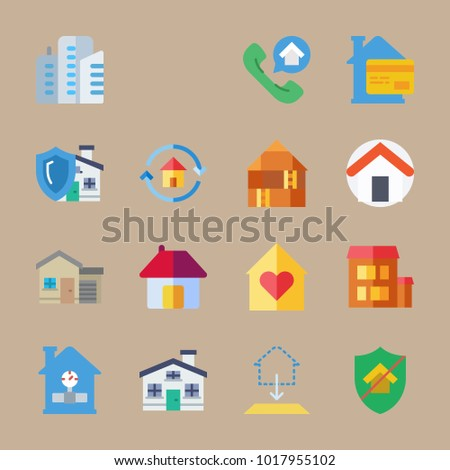 Icons construction building blueprint home skyscrapers stock photo icons construction with building blueprint home skyscrapers and buildings malvernweather Images