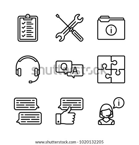 Icons customer service vector list puzzle stock vector 1020132205 icons customer service vector list puzzle and operator ccuart Image collections