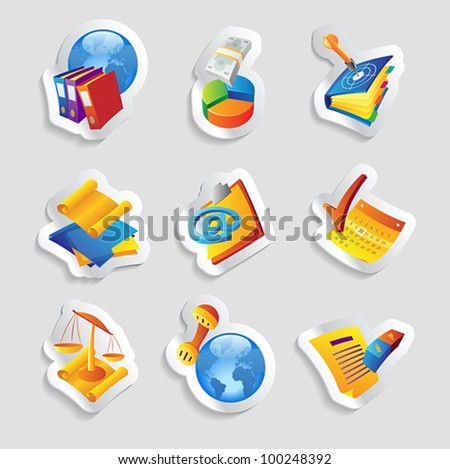 Icons for business and finance. Vector illustration.