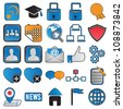 icons for community - vector icons - stock vector