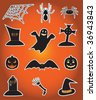 Icons for Halloween, illustration - stock vector
