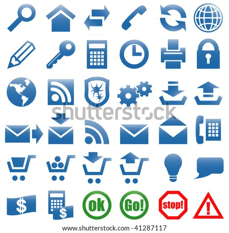 Icons for the web site Internet. Vector art in EPS format. All icons organized in layers for usability.