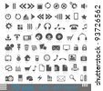 icons for web, audio, Internet ,ESP 10 - stock vector