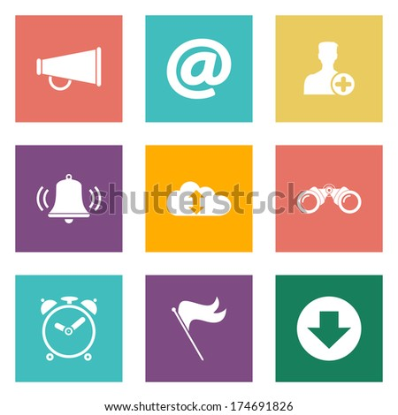 Icons for Web Design and Mobile Applications. - stock vector