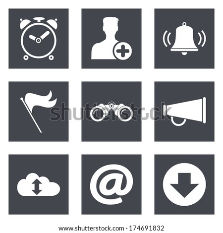 Icons for Web Design and Mobile Applications - stock vector