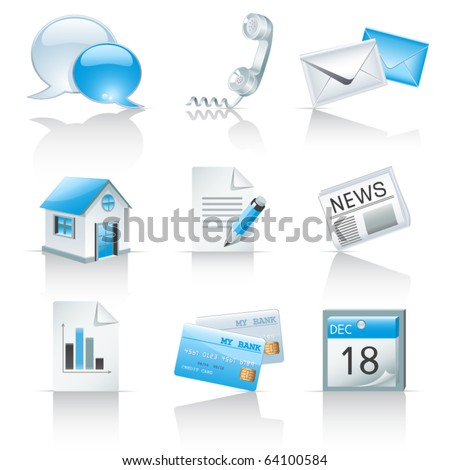 Icons for web sites - stock vector