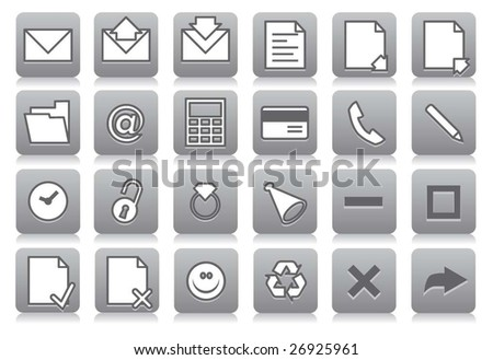 Icons for your computer desktop or design element - stock vector