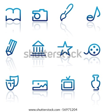 Icons of arts - stock vector