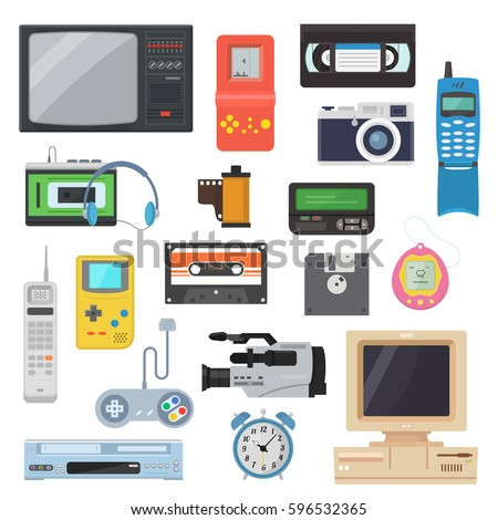 Guess The 90s Electronics Cd Player Icons Gadgets 90s Flat...