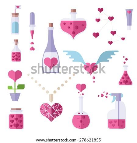 Icons love chemistry theme different cute stock vector royalty free icons of love chemistry theme different cute objects from lab where love and romantic make urtaz Choice Image