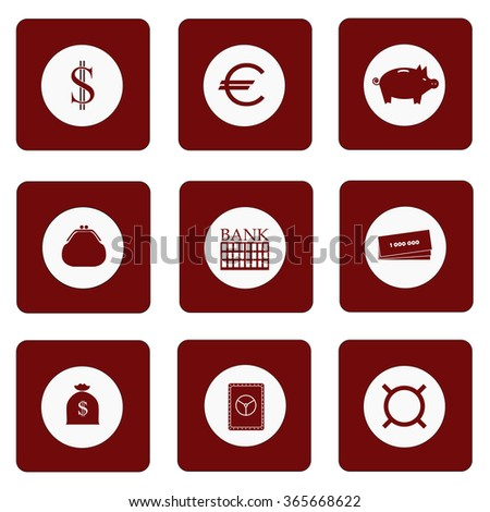 Icons Money Symbol Prosperity Success Wealth Stock Vector Royalty