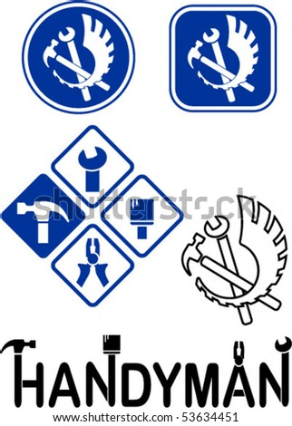 Icons of tools - stock vector