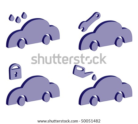 Icons series: service of cars. - stock vector