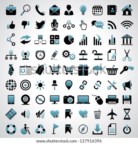 Icons set. - stock vector