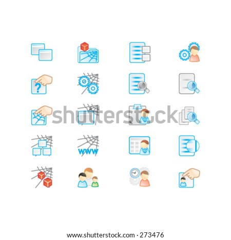 Icons set - a - stock vector