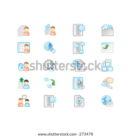 Icons set - c - stock vector
