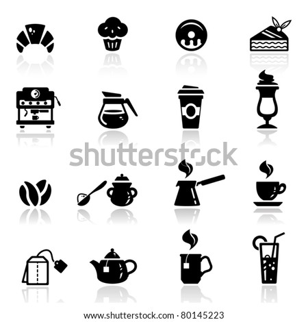 Icons set cafe icons - stock vector