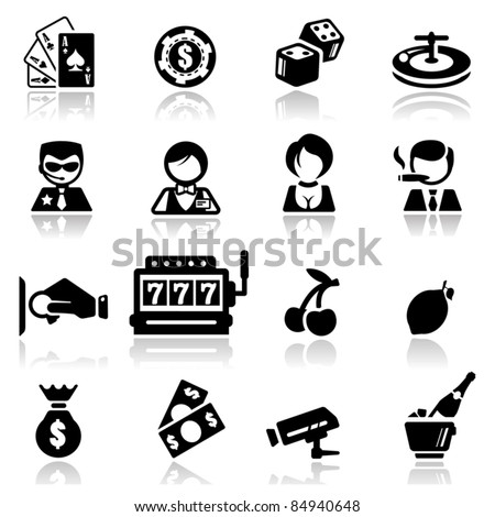 Icons set Casino - stock vector