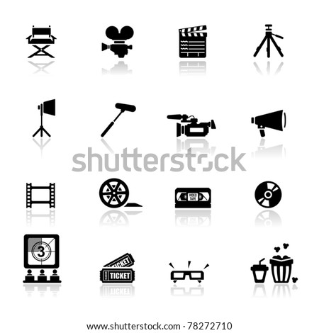 Icons set Cinema and movies - stock vector