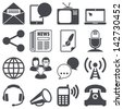 Icons set: Communication - stock vector