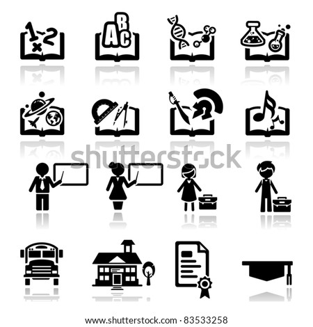 Icons set Education - stock vector
