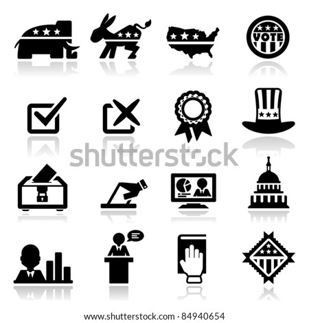 Icons set Election - stock vector