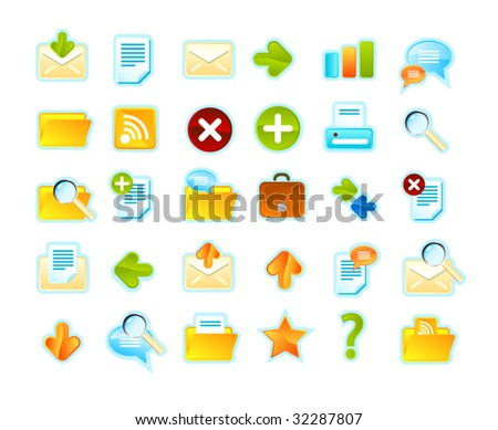 Icons set for Business or web