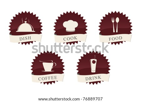 Icons set for restaurant, cafe and bar - stock vector