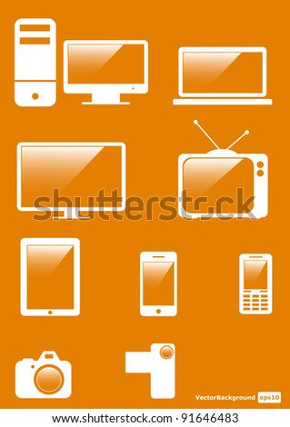 Icons Set for Web Applications, Internet & Website icons. Vector icons - stock vector