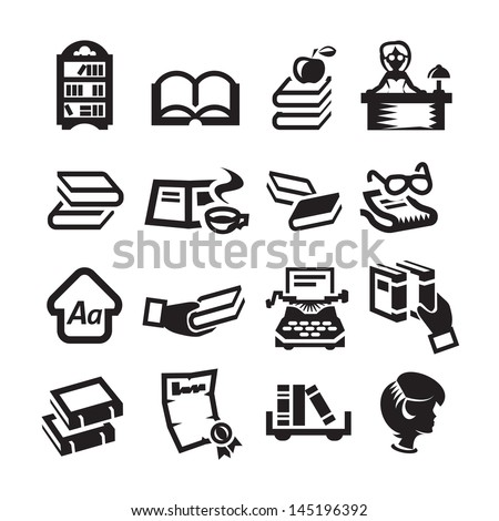 Icons set library - stock vector