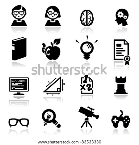 Icons set Nerds - stock vector