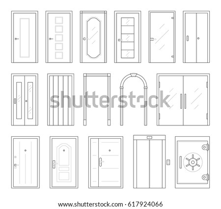 Different types doors stock images royalty free images for Different types of interior doors