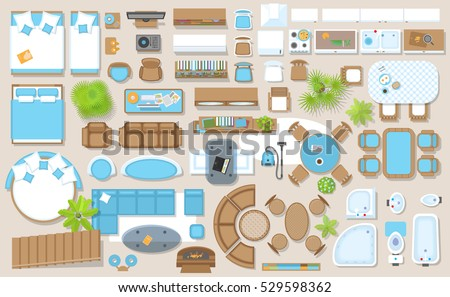 Floor plan stock images royalty free images vectors for Floor plan furniture store