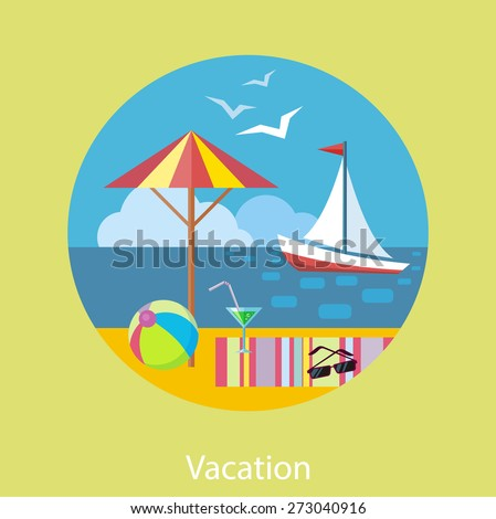 Icons set of traveling, planning a summer vacation, tourism and journey objects and passenger luggage in flat design. Different types of travel. Business travel concept on banner - stock vector