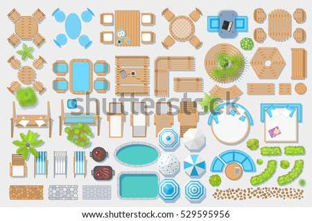Garden Furniture Top View garden furniture stock images, royalty-free images & vectors