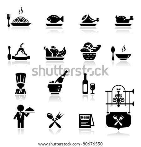Icons set Restaurant - stock vector