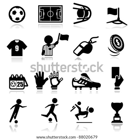 Icons set Soccer - stock vector