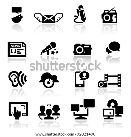 Icons set social media - stock vector