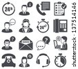 Icons set: support - stock vector