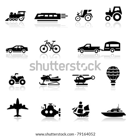 Icons set transportation